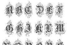 Alfabetos / Adoro letras e tudo o que se relacione com caligrafia e iluminuras / by Isabel Almeida