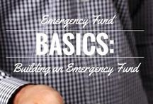 Saving for an Emergency Fund & Cash Reserve / Learn why you should have an emergency fund and cash reserve to cover unexpected expenses.  How much should have in your emergency fund?  What are the best ways to save?