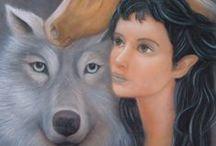 Fan Art / Dibujos e ilustraciones relacionados con la novela de fantasía épica Ojos de Jade.
