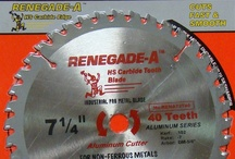 Aluminum Cutting Circular Saw Blades | @DB4US / Our Renegade-A industrial pro carbide tipped circular saw blades provide long life and fast, smooth cuts. Designed to cut through metals quickly. / by Diamondblades4us™ - A Cut In The Right Direction