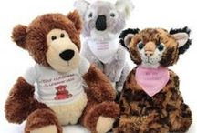 Personalized Plush at Stuffed Safari / At stuffedsafari.com we offer a wide selection of quality plush toys for children of all ages. Also, we provide the opportunity to personalized your purchase with a colored bandanna or a t-shirt. Write a message to your sweetie or send us a .jpg of your company logo and surprise your employees and customers with a fun plush toy decorated with your logo! With a large selection of fonts and a rainbow of colors you're sure to make your Stuffed Safari purchase truly unique!