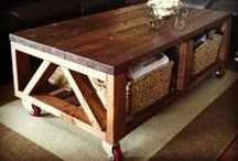 Coffee Table Plans / Coffee table plans - rustic,modern, farmhouse style, planked wood, diy, build, make your own wood coffee table.  Beginner woodworking plans and tutorials.