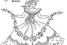 WOMEN/GIRLS/COUPLES EMBROIDERY PATTERNS / by Serafina C