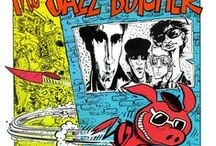 Comics-Inspired Record Sleeves / Record covers by comic artists or inspired by comics art. Includes covers by Hunt Emerson, Neal Adams, Dave Gibbons many others,