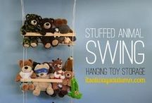 Stuffed Animal Storage / Unique ways to store stuffed animals... so you can make room for MORE!!!!
