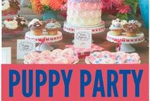 Animal Party Themes / Some cute animal related themes and ideas for parties. Looking for stuffed animals to decorate with or use as party favors? Then check out stuffedsafari.com and don't forget to use the coupon code: PUPPYPARTY to save 10% on ANY ORDER!!!!