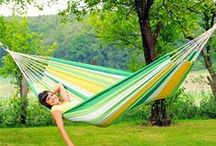 Garden Hammocks / Hammocks make a great idea for gift ideas!! Wonderfully relaxing and can be used indoors, our hammock chairs can be used as alternative seating or outdoors to enjoy your garden this summer.