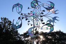 Jim LaPaso / Kinetic wind sculpture http://lapaso.com/outdoor-kinetic-sculptures/