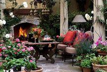Rooms - Home Exterior Elegance / Home Patio, Porches, Garden Decor / by Glenda Sexton