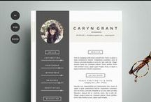 CV templates / This board consist of CV templates that both function as very professional representations and as inspirational ways of personal branding.