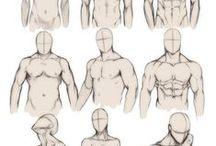 Desenhando - Imagem Masculina /  Anatomia masculina, estrutura muscular,diferentes partes do corpo, roupas,  poses,  e talvez fotos, se ajudarem no aprendizado.