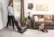 Powerful enough for homes with pets / The Hoover® WindTunnel®3 High Performance Pet vacuum is designed to tackle any busy household with kids and pets. With specially designed pet tools and powerful Windtunnel®3 technology, this vacuum removes stubborn pet hair on carpet and hard floors while tackling dirt and debris in every corner and crevice. / by Hoover