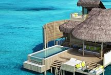 Overwater Bungalows / A place to rest our feet over turquoise waters? Overwater bungalow, we're home! ☀️