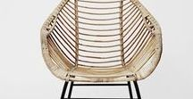 Wicker, Wicker / A staple furnishing from my childhood home living spaces,  gathered together in this pin board collection is an array of eclectic and modern wicker and rattan chair furnishings, that bring a calling back to that mid-century niche style infused with Tiki Polynesian culture!