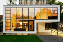 Container Homes / Box style living, container homes full of straight and simple lines!
