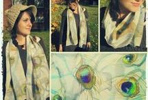 Hand painted scarves by SE scarves / Unique hand painted scarves by Simona Encheva Please visit my shop for more of my creations: http://sescarves.etsy.com/