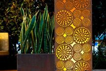 Corten / A range a sculptural features for the garden constructed from the material CoreTen Steel