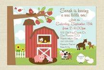 Baby shower farm theme