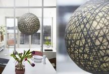 Irislights Ceiling and Floorlamps / Irislights large balls can be used as a celiing, table or floor lamp.  It can also be used just as a decoration. Hang them together in a group and you'll have a colorful funny detail in your home.
