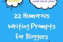 Blog Prompts That Get You Writing / Blog prompts and blog content ideas to help come up with a single post idea or create an editorial calendar.