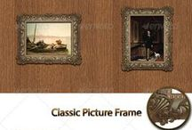 Picture Frame PNG / Picture Frame Design Collections with backgrounds. The images are PNG with transparent background. The PSD files will help you to create quickly your own framed pictures, and you can find help PDF file.