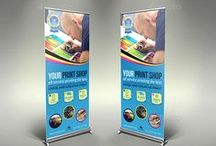 """Signage Banner / All Signage Banner designed at 150 DPI , CMYK , and 30""""x70"""" with bleed lines and guides included and enabled. All text layers are full type and can be edited with the click of a button. Also this files are easy to use and modify (colors, font etc.) with a well organized .PSD files."""