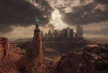 Apocalyptings / Post-apocalyptic fantasy worlds & wanderers