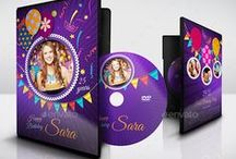 DVD Cover and DVD Label Design / DVD Cover and DVD Label Template for personal or group to married, born, birthday, graduate, Engagement, conference, meeting and all kinds of party or social gathering.