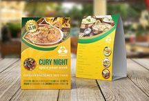 Table Tent Design / Table Tent Template made for restaurant and cafe food and drink menu easy to edit color, text and images.