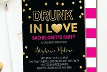 BACHELORETTE INVITATIONS / Bachelorette Party Themed Invitations