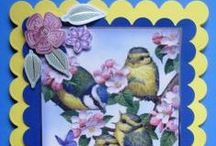 Cards with Birds on For Sale / hand crafted cards