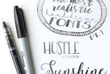 CREATIVE FONTS / Fonts and typography
