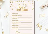 BABY SHOWER PRINTABLES / Baby Shower Printables - Signs, Diaper Raffle Tickets, Book Request Inserts, & Baby Shower Games