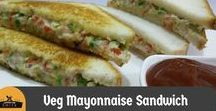 Sandwich Recipes / All Sandwich Recipes including Veg Mayonnaise Sandwich, Cheese Capsicum Toast Sandwich and more.