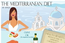 Mediterranean Diet / The Mediterranean Diet is one of the easiest, tastiest diets on the planet.  Pssst, a mellow glass of wine is allowed. / by Dee @ Healthy Diets