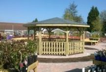Outdoor Classrooms and School Shelters / images of past construction projects for outdoor learning areas.