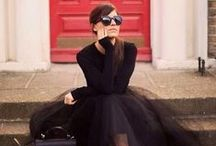 Parisian Chic / How to dress like a Parisian. I love the french style of stunning yet effortless glamour. Think tulle and tulip skirts, sophisticated elegant cuts, sunglasses and scarves.
