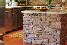 Stone & Masonry Home Ideas / Beautiful stone showcased throughout the interior and exterior of the home. www.rooftime.com