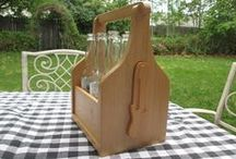 Wooden Bottle Openers and Carriers / Wooden Bottle Openers and Carriers