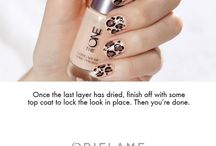 Oriflame nail art / Golden accent, nautical, leopard, French party style