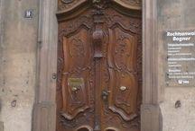 Door knockers , doors and keys