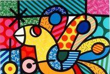 Romero Britto / Romero Britto es uno de los mayores iconos del Pop-Art hoy. Su estilo único se caracteriza por su geometría 'Picassiana'. Caracterizado por su trazo naif definiendo los contornos de colores muy vivos y llenos de pasión.