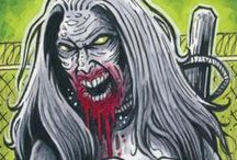 """""""The Walking Dead"""" Comic Sketch Cards Set 2 / Hand drawn sketch cards for Cryptozoic Entertainment's """"The Walking Dead Comic Trading Cards Set 2.""""  © 2013 Cryptozoic Entertainment. All Rights Reserved. The Walking Dead is ™ & © Robert Kirkman."""
