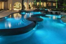 COOL POOLS~~ / Amazing swimming pools from around the world from suburban backyards and the mega rich mansions to hotels and villas everywhere. The coolest pools you just have see! Waterfalls, slides and grottos make them ever cooler' / by Jenn Klein