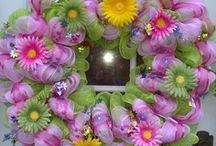 Whimsical Wreaths & Garland / I like to celebrate different holidays and seasons with colorful wreaths and house decorations. I think i tmakes times and changes more joyful. / by Janice Mitchell