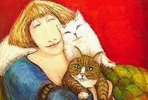 Cat Art & Illustrations / Some really funny antics... / by Bonnie Pratte