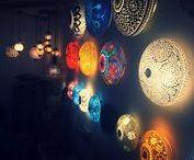 Oosterse sfeerverlichting / Oosterse sfeerverlichting van glasmozaiek in vele sprankelende kleuren. Handgemaakt in India ook wel Arabische lampen of Marrokkaanse lampen genoemd.
