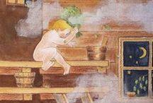 Sauna / Ihastuttavia kuvia erilaisista saunoista joissa vaikka voisi käyttää by itu - Satu- tai Sauli-saunahattua