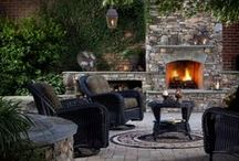 Outdoor Fireplace & Fire Pits / Warm your heart with an outdoor fireplaces or easy to assemble fire pits. These are features you can enjoy year round with friends and family!