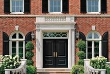 Brick / Brick is classic,timeless,stately, and distinguished. Brick is an excellent accent whether it be a walkway,wall,or exterior of a house.